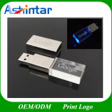 USB3.0 Metal USB Flash Disk LED Crystal USB Flash Drive