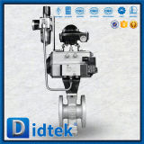 Didtek Flange Ends JIS 10K Electrical V Ball Valve for Oil