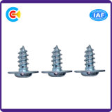 Carbon Steel/4.4/8.8/10.9 M6 Phillips/Cross Pan Head Galvanized Fastener Self-Drilling Screws with Washer