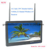 No Blue Screen 10.1 Inch Video Monitor with Dual 32 Channel AV Receiver
