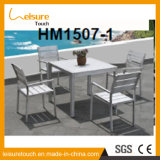All Weather Durable Patio Garden Furiniture Square Pedestal Coffee Outdoor Table and Chair