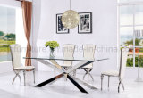 Stainless Steel Glass Dining Table for Dining Room
