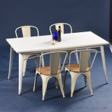 Classic Industrial Tolix Table Set with Customized Colors Size (SP-CT673)