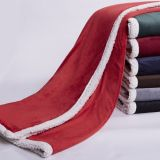 Super Soft Coral Fleece /Flannel Fleece Blanket with Sherpa Backside