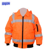 High Visibility Orange Winter Coat Padded Jacket Protective Clothing PPE Workwear Work Clothes