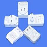 White/Black 5V3a Dual Port USB Power Adapter