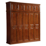 Cheap Price Simple Design Solid Wooden Bedroom Wardrobe (GSP9-018)