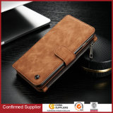 Real Leather Wallet Case with Detachable Slimcase 2 Kickstands Phone Case