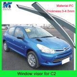 Sun Chrome Side Window Visor Vent Guards Rain for Citreon C2