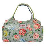 Floral Printing Waterproof PVC Canvas Ladies Bag (99145)