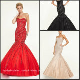 Red Black Cocktail Ball Gowns Sequins Beads Luxury Evening Prom Dresses Ra923
