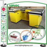 Supermarket Cash Desk Checkout Counter with Conveyor