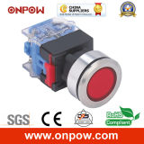Onpow 30mm Push Button Switch (LAS0-K30-11/R/12V/S, CE, CCC, RoHS)