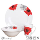 Decal Porcelain Ceramic Cheap 12PCS Dinner Set