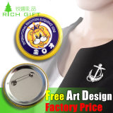 Factory Safety Pin Cartoon Printing Enamel Sticker for Souvenir