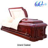 Flat Cover Velvet High Gloss Hot Sale Import Distributor Coffin and Casket