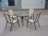 Garden Outdoor Furniture Dining Table 4 Chairs Set (FS-1201+ FS-1122)