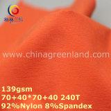 Nylon Two-Ways Spandex Plain Dyeing Fabric for Garment (GLLML292)