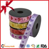 Valentine′s Day Gift Wrapping Printed Polyester Ribbon Roll