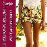 Sunflower Summer Printed Casual Pant Woman Shorts (L426)