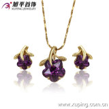High Quality 14k Gold Color Fashion Jewelry Set (62979)