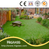 30mm Soft Fire-Proof Synthetic Lawn Turf with C Shape Yarn
