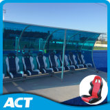 Anti-UV Team Shelter, Substitude Bench, High Impact with Clear Polycarbonate Sheet