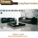 Wooden Sofa with Leather Material New Sofa Design