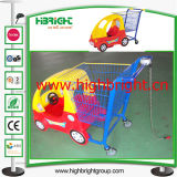 Supermarket Child Toy Shopping Cart with Coin Lock