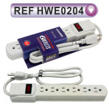 Grounding Power Strip with Extension Cable and Switch (HWE0204)