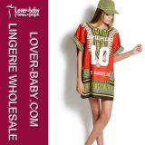 Adult Girls African Traditional Print Shirt Dress (L27928)