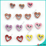 Colorful Hollow Heart Charms for Bracelet Jewellery (SC16040935)