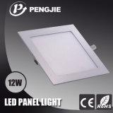 Zhonshan Factory Indoor 12W Square Slim LED Ceiling Panel Lighting