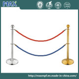 Dual Line Twist Rope End Queue Barrier for Crowd Control