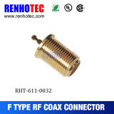Gold Plated Female Gender Connector Grouding Jack Environmental F Connector