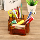 Acrylic Desktop Pen & Pencil Holders with Business Card Holder
