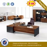 Side Extension Table Attached Walnut Melamine Office Desk (HX-5DE210)