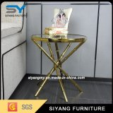 Luxury Rose Golden Marble Top Console Table