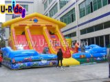 Cow Farm Inflatable Combo Bouncer Playground for kids jumping