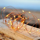 Copper Fairy String Light 100 Warm White Starry LEDs Bendable Plug in Wire Timer Outdoor Use