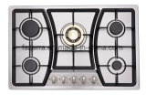 Stainless Steel Panel with Cast Iron Pan Support Sabaf Five Burner Cooktop