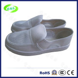 White ESD Cleanroom Working Canvas Shoes (EGS-PVC-502)