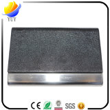 Slap-up Black Leather Business Name Card Holder and Leather Metal Name Card Case