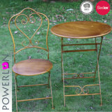 Metal Folding Bistro Set Vintage Shabby Chic Style