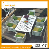 Modern Garden Furniture Used Patio Synthetic Rattan Dining Table
