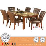 Stone Top Oak Dining Room Table Home Modern Wooden Hotel Furniture