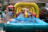 Sliding of Dual Lane Slip 'n Slide Inflatable