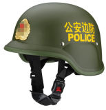 Border Defence Green Color Safety Helmet with Badge