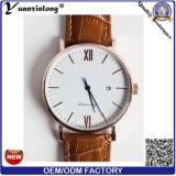 Yxl-134 Popular Charming Men′s Watch High Quality Genuine Leather Wrist Watch Mens Casual Quartz Watches Men