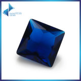 Square Cut Blue Glass Gemstone Beads for Jewelry Making